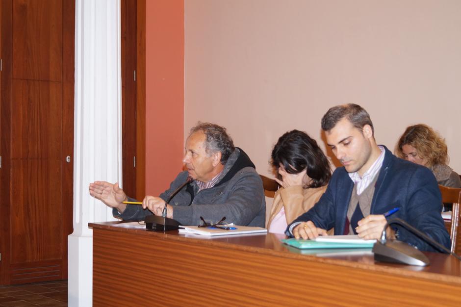 El grupo político PP-UPG durante un pleno.