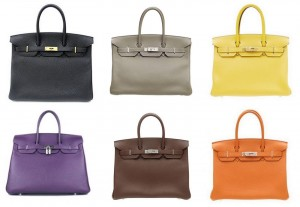 Bolsos Birkin de Hermès.