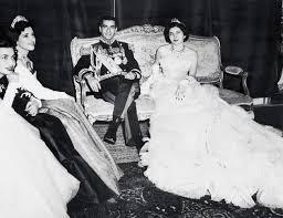Soraya Esfandiary con el Sha de Persia.