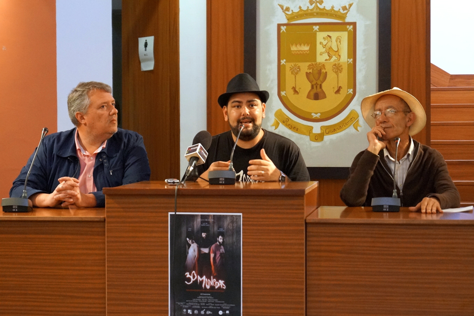 Momento de la rueda de prensa de presentación de la película.