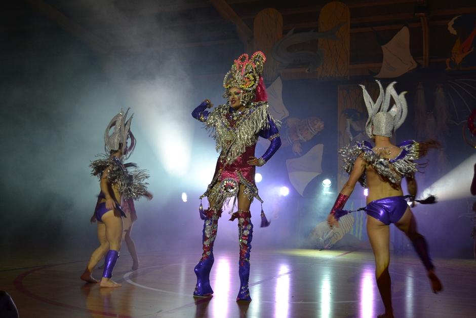 Drag Vulcano, ganadora de la Gala Drag Queen del Carnaval 2014 en Gáldar.