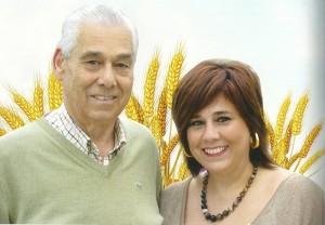 Julio Almeida y Juana teresa Almeida, pregoneros de las fiestas.