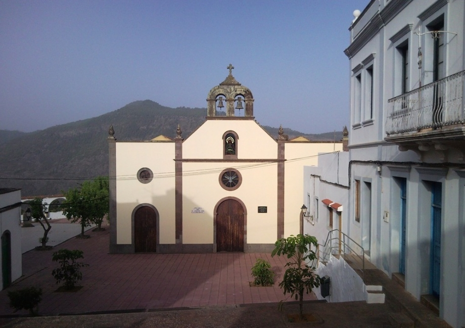 Imagen de archivo de la plaza e iglesia de San José de Caideros.