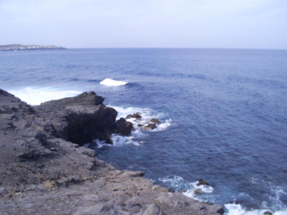Zona de El Frontón, en El Agujero, en la costa de Gáldar.