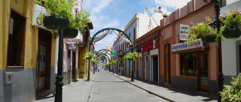 Imagen de archivo de la calle Capitán Quesada, en Gáldar.