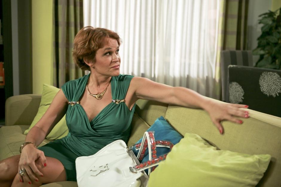 La actriz durante su interpretación del papel de Estela Reynolds en la famosa serie de televisión.