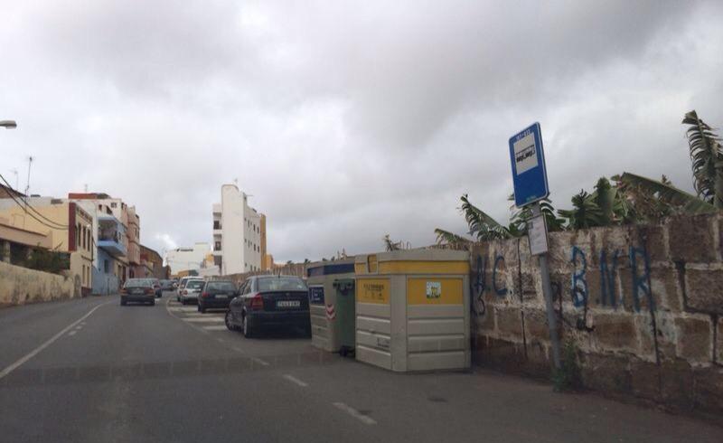 Zona donde hace unos meses, el Cabildo, gobernado por el Partido Popular, taló árboles, sin que el PP de Gáldar enviara comunicado alguno.