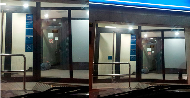 El comunicado del PP asegura que esta imagen fue tomada en la noche del 3 de junio, cuando José Luis González Mateos, su presidente, se acercó al cajero a hacer una operación, aunque se disculpan diciendo que la foto fue tomada posteriormente por un simpatizante.