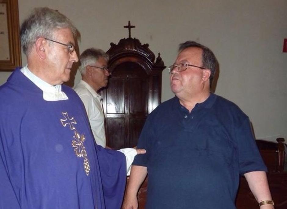 Antonio Perera junto a Manolo Reyes. Imagen de archivo.