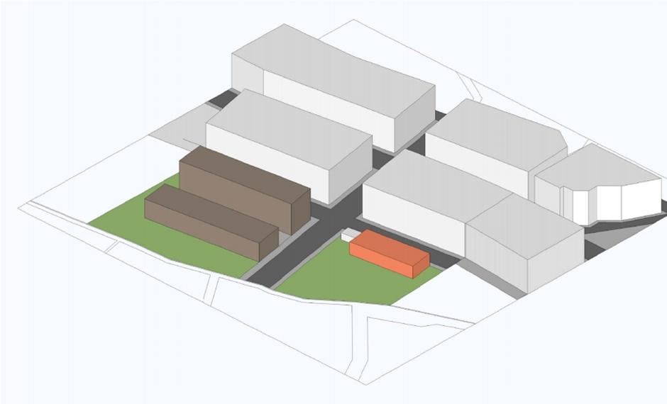 Plano de volumetría del centro sociosanitario de Marmolejos