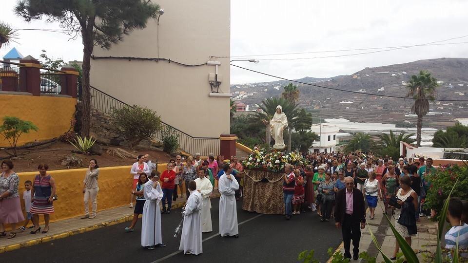Procesión de la Virgen de Fátima en La Montaña. Imagen: Juan Pérez Flores.