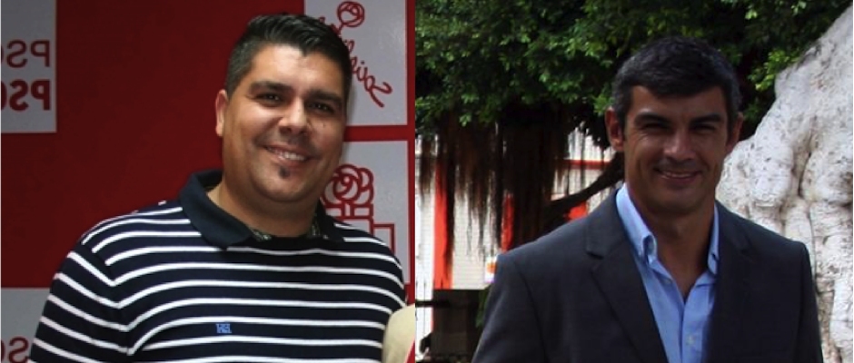 Evelio Pérez (izq) y Juan Jesús Moreno (der), los precandidatos a la alcaldía de Gáldar por el PSOE.