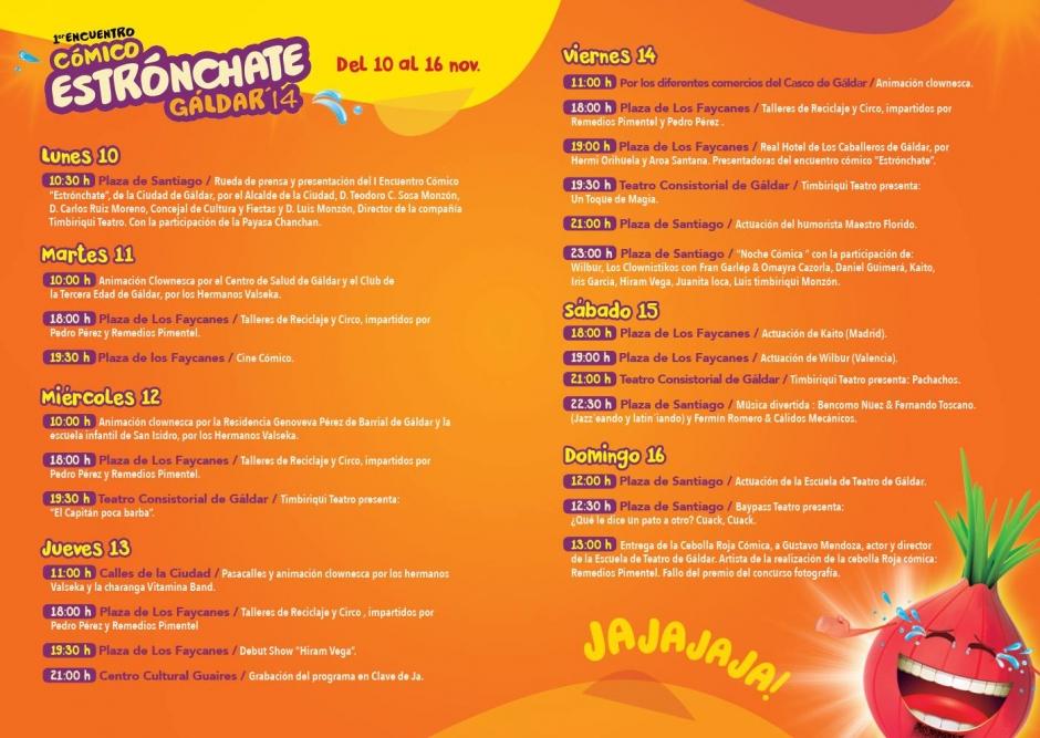 Programa de actividades de Estrónchate Gáldar 2014.