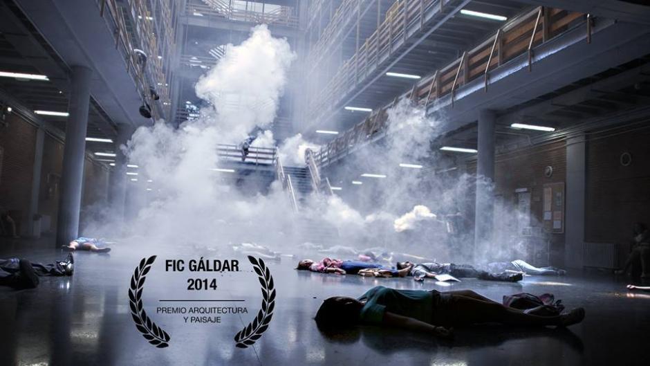 Fotograma del cortometraje 'Safari' premiado en el FIC Gáldar por la especialidad de Arquitectura y Paisaje.