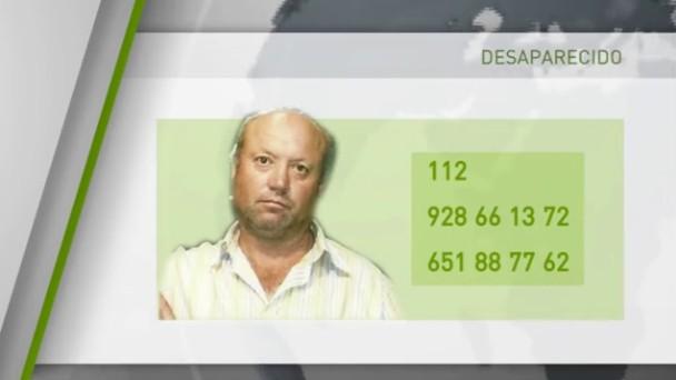 El desaparecido en un gráfico de la Televisión Canaria.