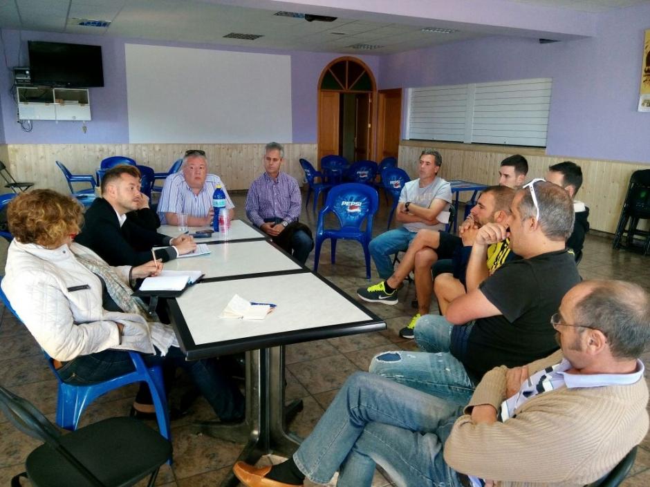 Momento de la reunión en Saucillo.