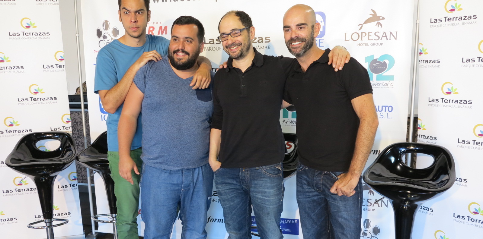 Los cuatro actores de El Trámite, Gómez, Perez, Sánchez y Ruano.