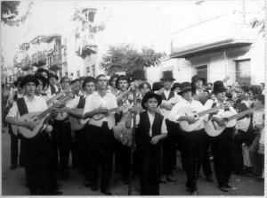 Primera actuación de Los Cebolleros en 1971.