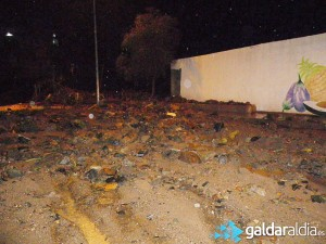 Estado en el que quedó la carretera de El Roque