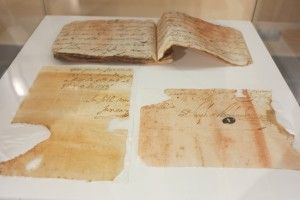 Parte de los documentos expuestos.