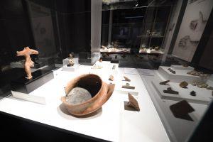 Parte de las piezas aborígenes que se muestran en el Museo Nacional de Altamira desde este viernes.