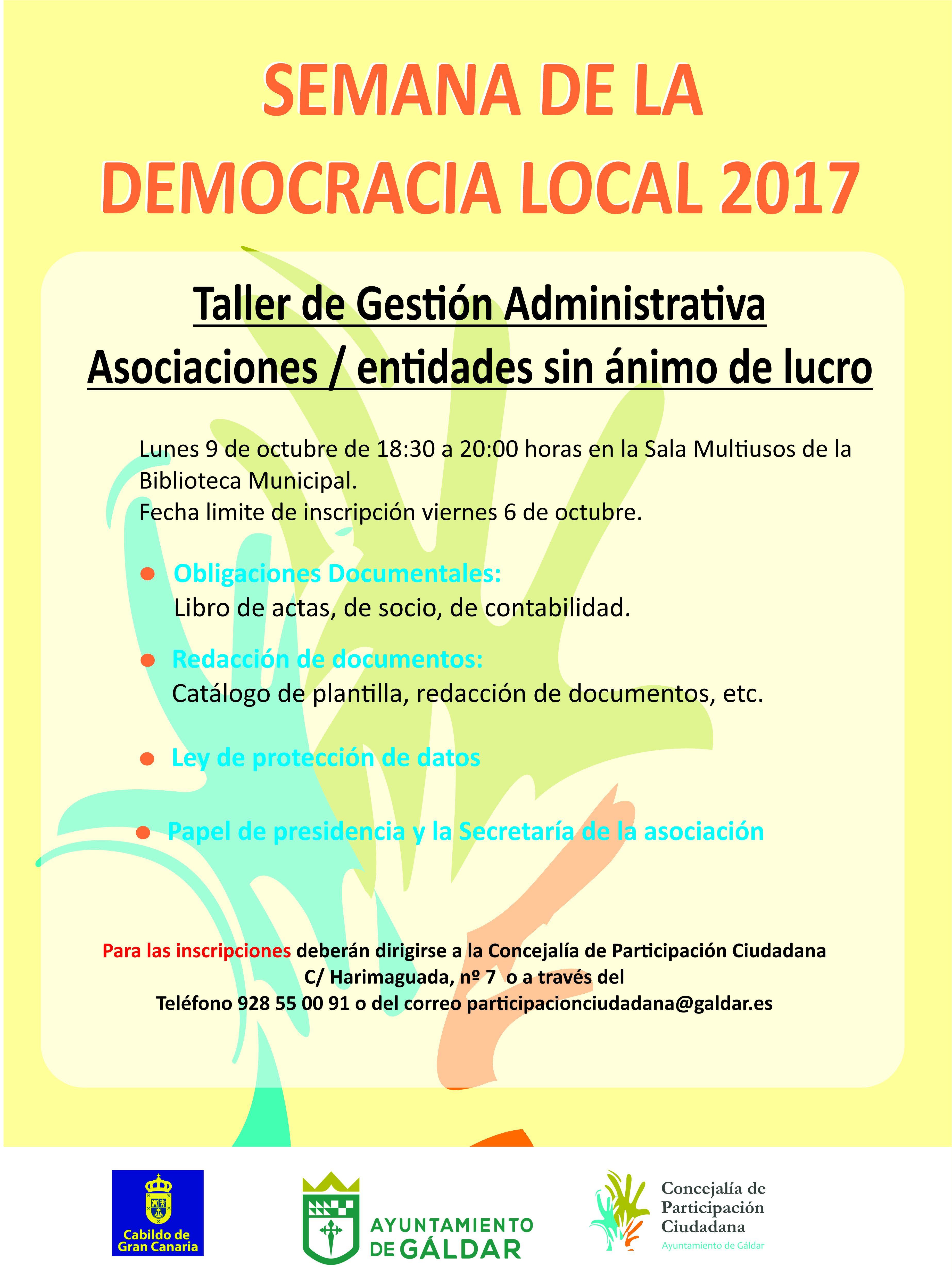 Participación Ciudadana abre la inscripción para el Taller de ...